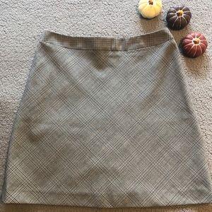The Limited plaid mini skirt women's size 0